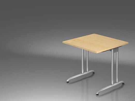 Scrivania C/BASE 80x 80cm, acero