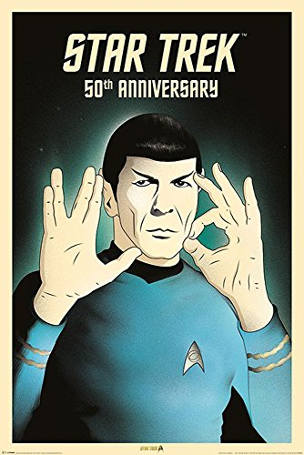 empireposter 743855Star Trek-Spock 5-050th Anniversary-Film Movie Poster Stampa-dimensioni 61x 91,5cm, carta, multicolore, 91,5x 61x 0,14cm