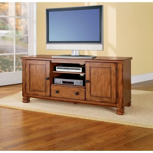 Amazon com - Altra 98296 Rustic TV Stand, Pine
