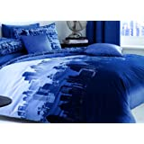 Catherine Lansfield CityScape King Quiltset - Blue
