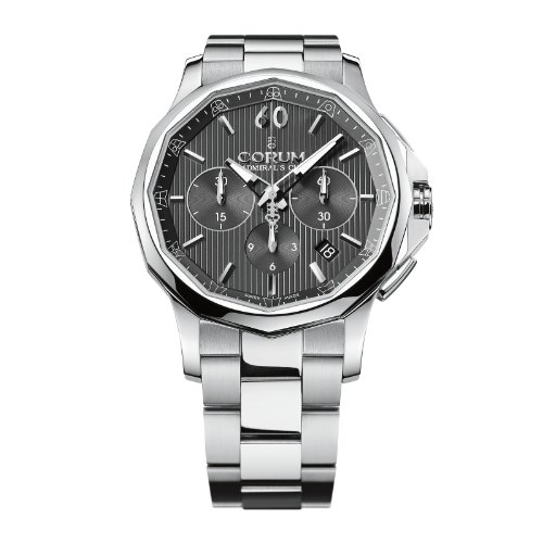 Corum Admiral´s Cup Legend 42 Chrono 984.101.20/V705 AN10 42 Automatic Stainless Steel Case Steel Bracelet Band anti-reflective sapphire Men's Watch