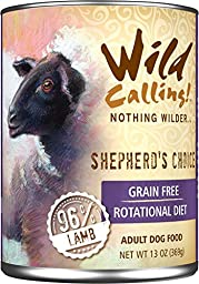 Wild Calling Canned Dog Food - Shepherd\'s Choice 96% Lamb - 13 oz - 12 ct