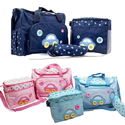 4pcs-Car-Cute-as-a-Button-Embroidery-Baby-Nappy-Changing-Bag