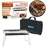 "Camping Grill - Portable Compact Scout Outdoor Grill (16.5"" X 10.5"") - Weighs Just 2.5 Lbs and Includes Carrying Bag"