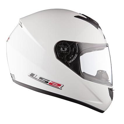 LS2 - Casque moto LS2 SINGLE MONO FF 351.1 - Taille: M - Couleur: Blanc