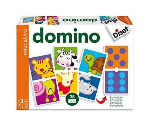Diset 63491 - Domino Animales Y Puntos