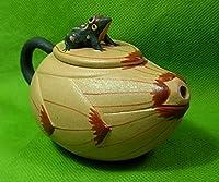 Chinese Yixing 180ml Huangduan zisha * frog lotus Oriental tea pots