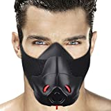 Sport Training Workout Mask High Altitude for Fitness Cardio Hypoxic Endurance Jogging Running Cycling and Martial Arts Training with 3 Air Flow Levels Regulator