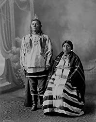 Chief Drag Wolf and Wife, ca. 1910 Photograph - Beautiful 16x20-inch Photographic Print from the Library of Congress Collection