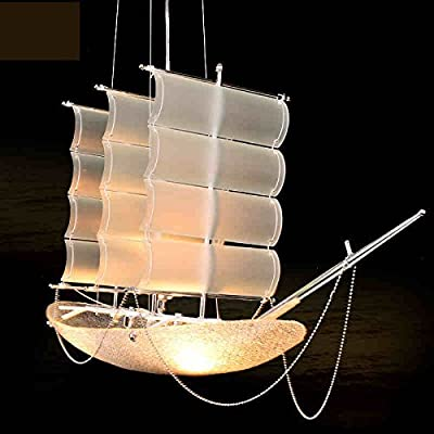 CHXDD Sailboat chandelier style dining room table lamps Lighting living room of children sailing boat lamp