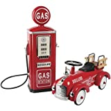 Constructive Playthings ATB-4 Steel Gas Pump Replica with Ride-on Hook/Ladder Firetruck for Toddlers, Grade: Kindergarten to 3
