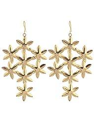 ORNAMAS Starfishment Gold Metal Dangle & Drop Earring For Women - B00V54CACQ