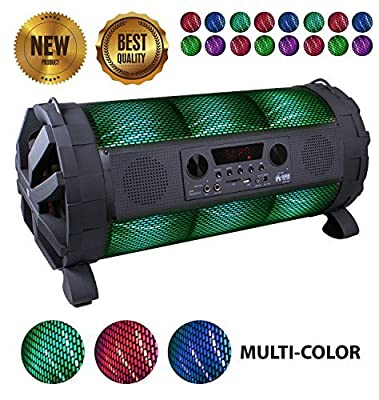 EMB - EBZ100 Rechargeable Portable Boombox Speaker System 600w Colorful LED Lights