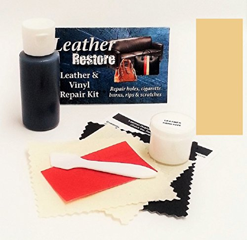 Leather Repair Kit with READY TO USE Color, BEIGE (Faux Leather Furniture Repair Kit compare prices)