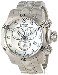 Invicta Men's 5730 Venom Reserve Chronograph Silver Dial Stainless Steel Watch: Watches: Amazon.com