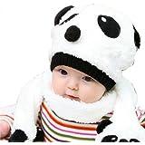 Luckshop2012 2pcs Toddler Infant Mixte Fille Garçon Bébé Chapeau Bonnet + écharpe bébé de dessin animé Panda Hut Schal 1-5Y