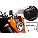 Ultimate Addons Pro Motorcycle Bike Mount Kit with Hard Wire Powered Battery Charger Cable and Tough Waterproof Case for Apple iPhone 4