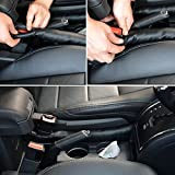 Universal Car Seat Gap Filler Pad In Black with Spacer Protective Case and Slot Plug Car Gap Filler (2 pcs, Black)