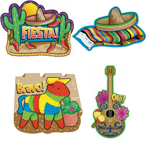 Fiesta 16in Assorted Cutout Decorations Party Accessory