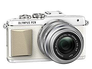 Olympus PEN E-PL7 Interchangeable Lens Camera - White (16.1MP, M.Zuiko 14-42mm II R Lens) 3.0 inch Touchscreen LCD