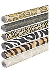 "Pacon 56920 Fadeless Safari Prints Paper, Assorted Animal Prints, 24"" x 8-ft., 6 rolls/pack"
