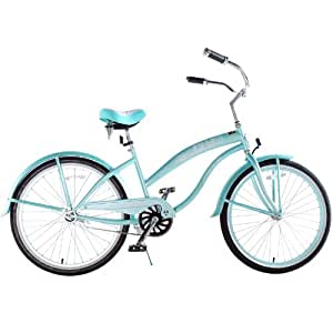 "Kids Bikes ""Mint Green"" Ladies Beach Cruiser 24"" Deluxe"