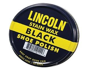 Lincoln Stain Wax Shoe Polish 3 Fl Oz (Black)