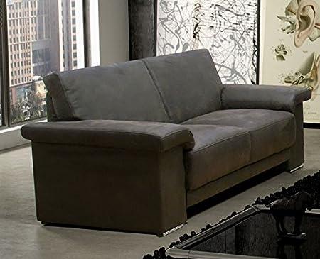 FANO 2er Sofa Couch 2-Sitzer Braun Kunstleder
