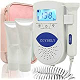 Coybely® Pocket Feta.l Doppler Sonoline B Baby Heart Monitor for Pregnancy, Lcd Loudspeaker Waterproof Probe +Gel ,Shiped From Within USA Daily Shiped Ce Fda Approved (White)