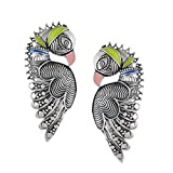 Silver Bird Ear Cuffs by Amrapali