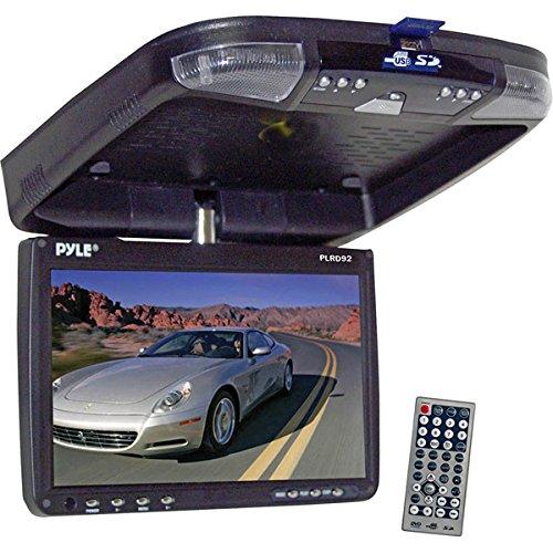 Pyle B001RJU4TA 22,8 cm (9 Zoll) Flip Down Deckenmonitor Multimedia-Disc-Player mit drahtloser FM Modulator/IR Transmitter