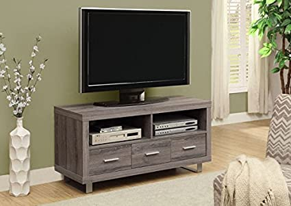"DARK TAUPE RECLAIMED-LOOK 48""L TV CONSOLE WITH 3 DRAWERS (SIZE: 48L X 18W X 24H)"