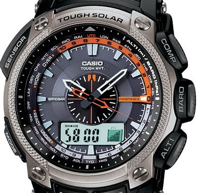Casio Men's PAW5000-1 Pathfinder Solar Power Blue Dial Watch