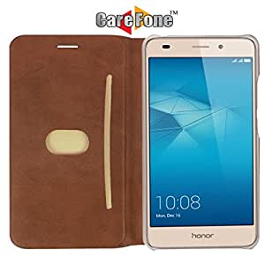 Honor 5C Flip Cover, Honor 5C Flip Case, Premium PU Leather Flip Cover for Honor 5C with Card & Currency Wallet Cut from CareFone