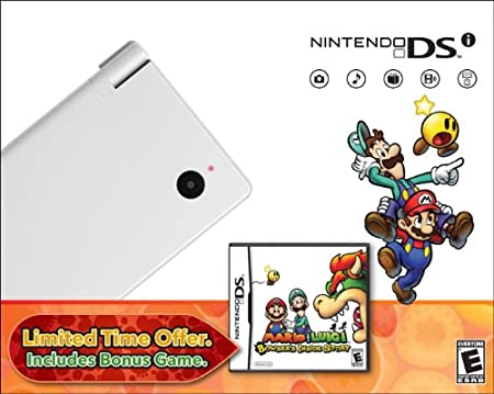 Nintendo DSi with Mario &#038; Luigi Bundle - White