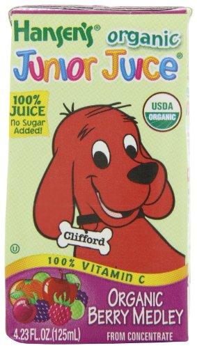 Hansen Beverage Organic Berry Medley Junior Juice, 4.23-Oz, 44 Count