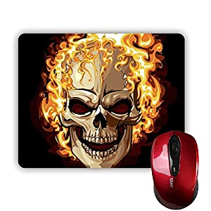 Sale-mall Anger Skull MousePad Rectangle Non-Skip Rubber Mouse Pad 220mm x 180mm x 3mm from Sale-mall