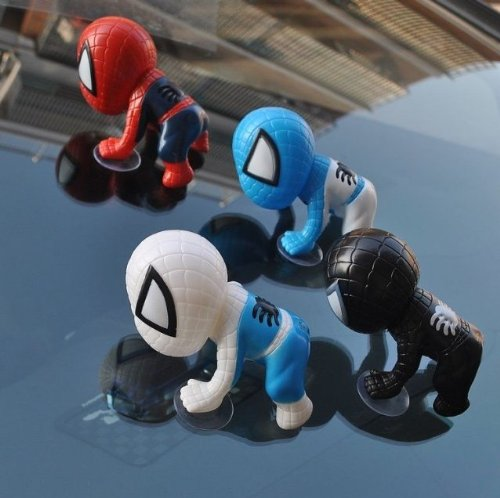 Giftoyou(TM) Newest 1Pcs Cute Auto Part Spider-man Doll Car Accessories black - 1