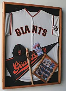 MLB Baseball Jersey Display Case Cabinet- w  98% UV Protection by sfDisplay