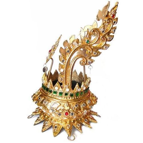 Amazon.com : Thai Dance Headdress Ramthai Head Hair Knot Piece Dancer