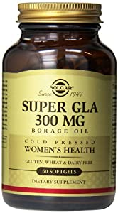 Solgar Super GLA Supplement, 300 mg, 60 Count