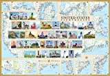 img - for United States Lighthouses Map - Laminated Poster book / textbook / text book