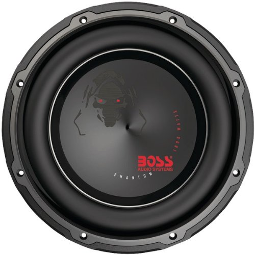 "Boss Audio P10Dvc Phantom Series Dual Voice Coil Subwoofer With Electroplate Injection Cone (10"")"