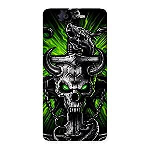 The Game Skull Back Case Cover for Canvas Knight A350