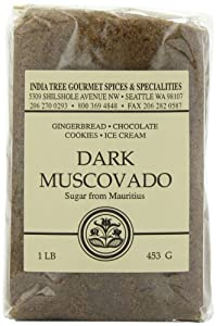 India Tree Dark Muscovado Sugar, 1 lb (Pack of 4)