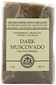 India Tree Dark Muscovado Sugar, 1 lb (Pack of 4)