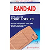 Band-Aid Brand Adhesive Bandages, Tough-Strips, Extra Large (1.75-Inch Wide), 10-Count Bandages (Pack of 6) ~ Band-Aid