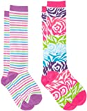 Jacques Moret Girls 7-16 Multi Colored Girls 2 Pack Knee High Socks