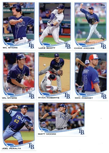 2013-topps-baseball-cards-update-series-tampa-bay-rays-team-mlb-trading-set-sealed-8-cards-us6-joel-