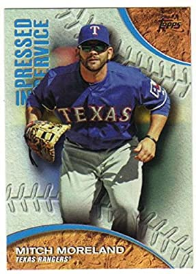2016 Topps Series 1 Pressed Into Service #PIS-1 Mitch Moreland Texas Rangers